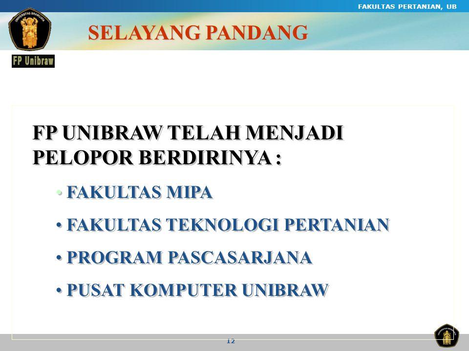 FP UNIBRAW TELAH MENJADI PELOPOR BERDIRINYA :