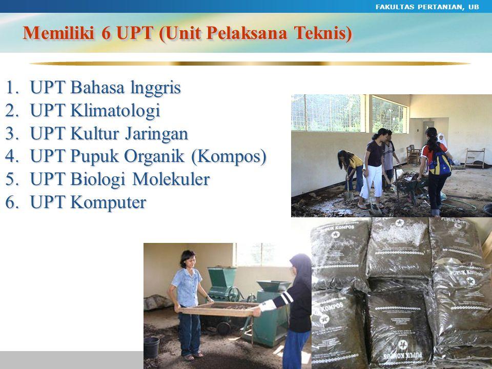 Memiliki 6 UPT (Unit Pelaksana Teknis)
