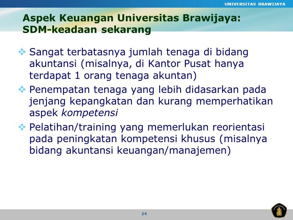 Aspek Keuangan Universitas Brawijaya: SDM-keadaan sekarang