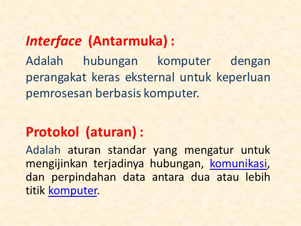 Interface (Antarmuka) :