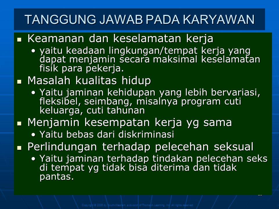 TANGGUNG JAWAB PADA KARYAWAN