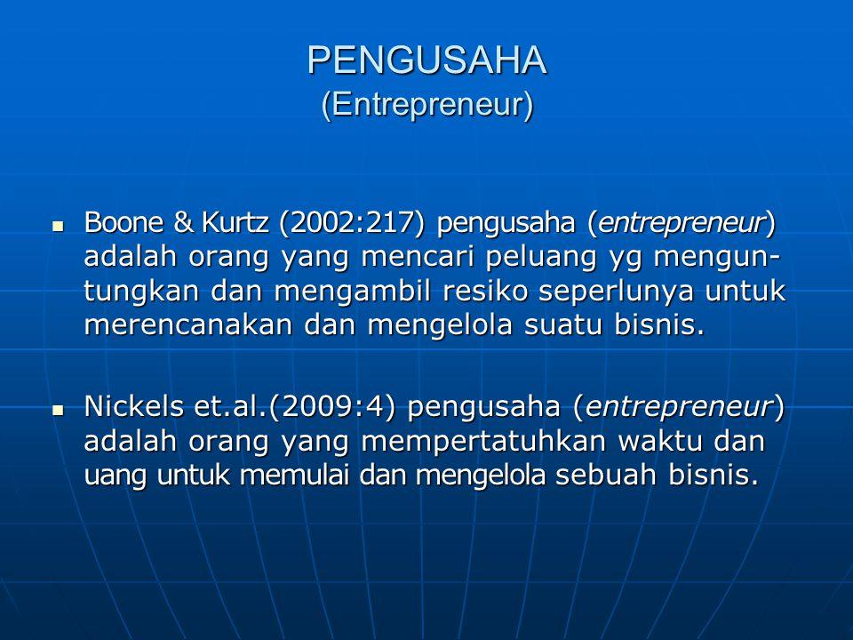 PENGUSAHA (Entrepreneur)