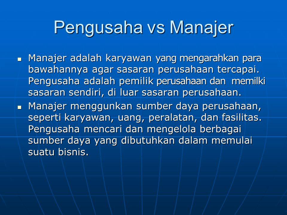 Pengusaha vs Manajer