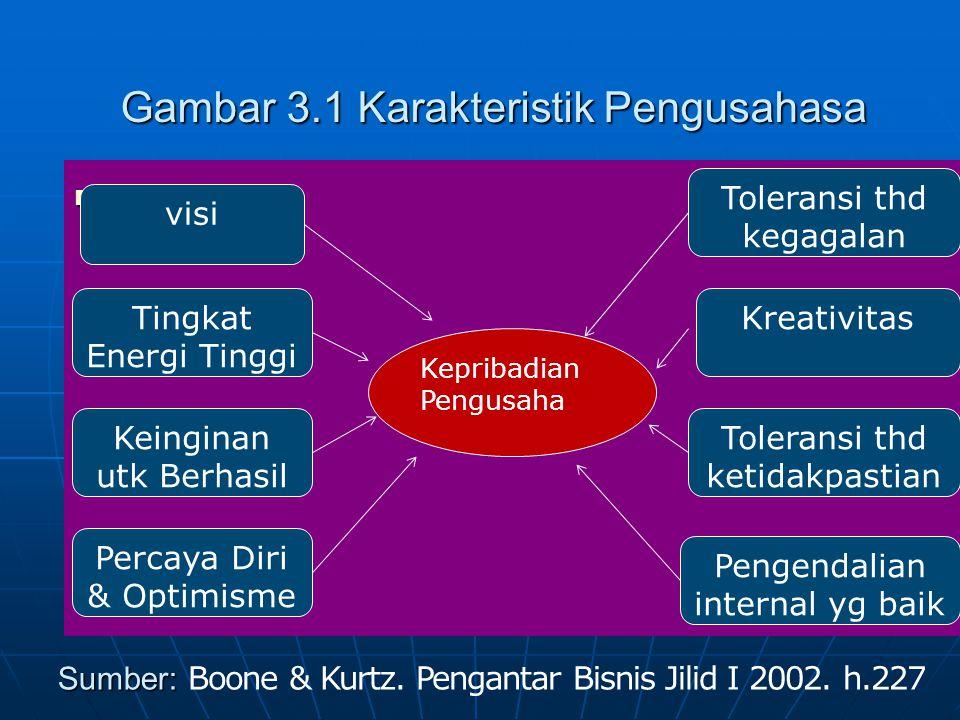 Gambar 3.1 Karakteristik Pengusahasa