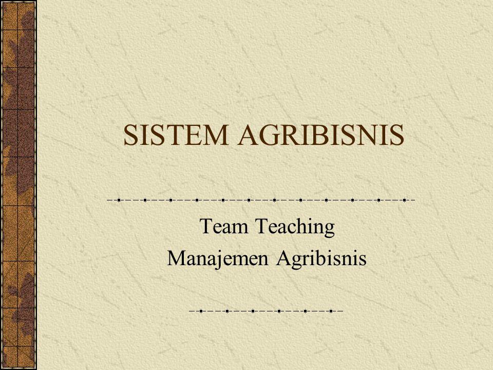 Team Teaching Manajemen Agribisnis