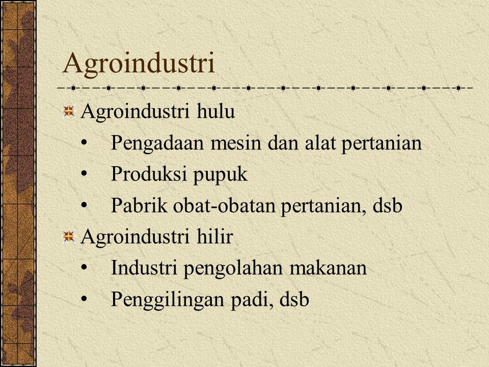 Agroindustri Agroindustri hulu Pengadaan mesin dan alat pertanian