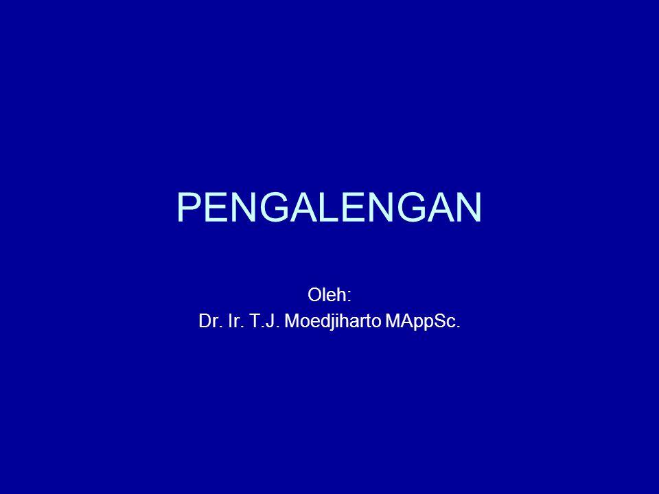 Oleh: Dr. Ir. T.J. Moedjiharto MAppSc.