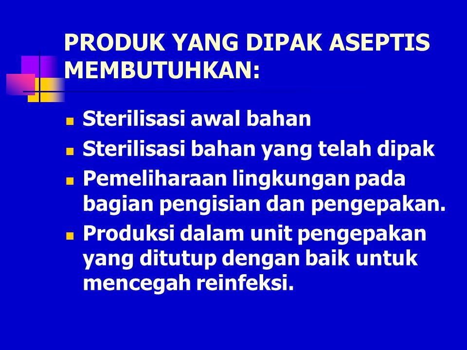 PRODUK YANG DIPAK ASEPTIS MEMBUTUHKAN: