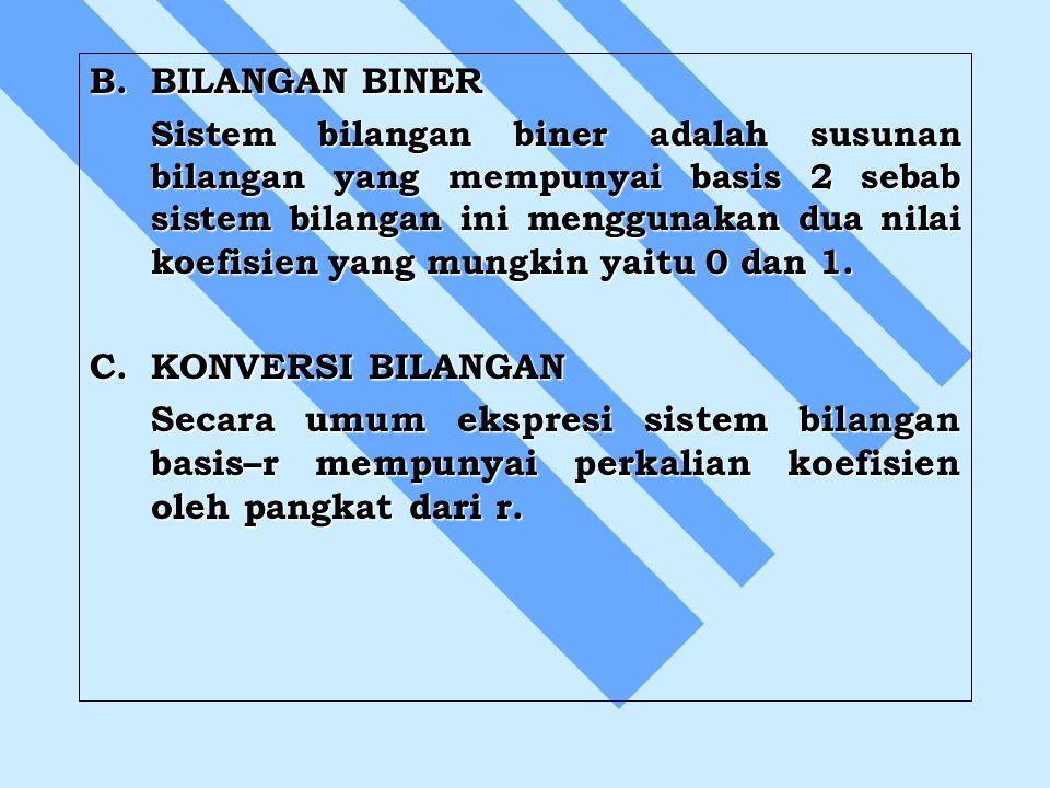 B. BILANGAN BINER