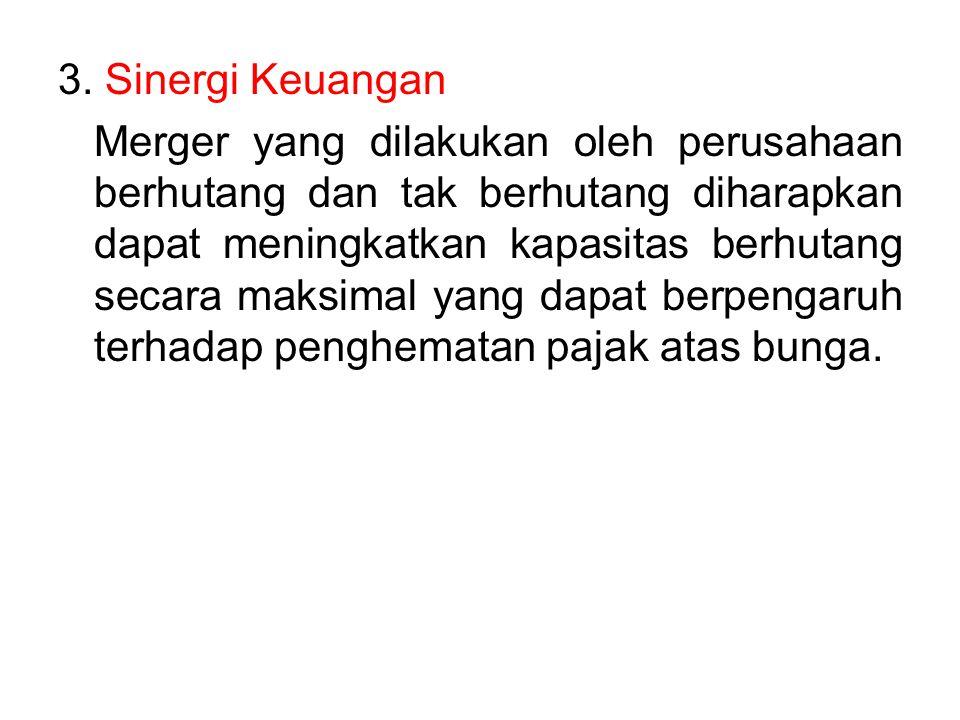 3. Sinergi Keuangan