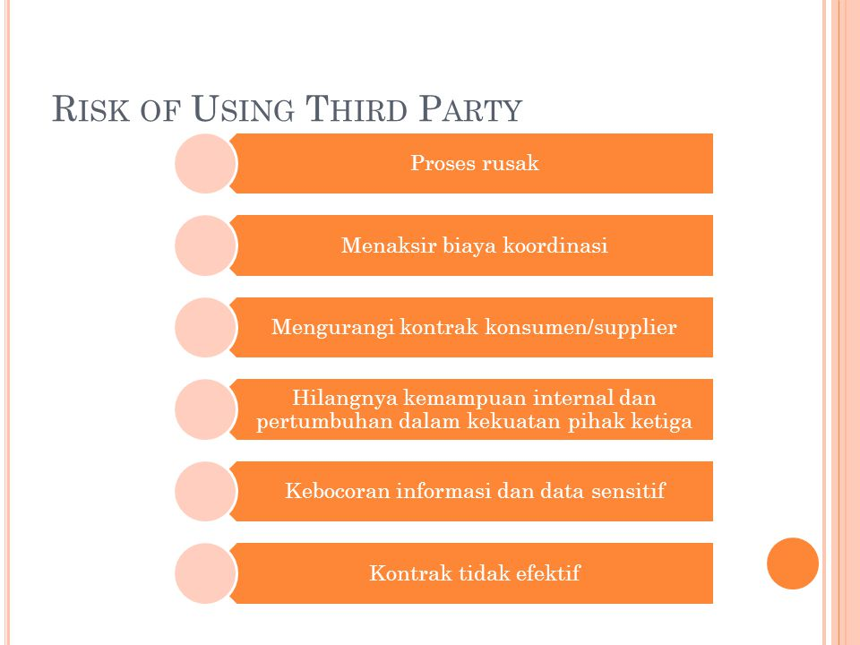 Risk of Using Third Party
