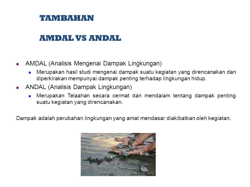 TAMBAHAN AMDAL VS ANDAL AMDAL (Analisis Mengenai Dampak Lingkungan)