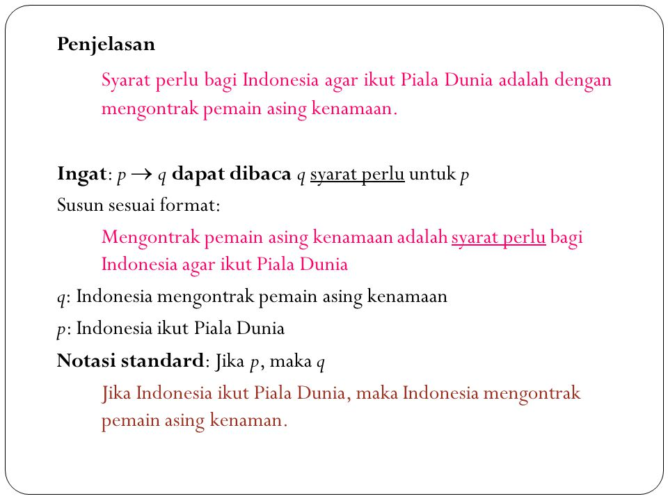 Penjelasan Syarat perlu bagi Indonesia agar ikut Piala Dunia adalah dengan mengontrak pemain asing kenamaan.