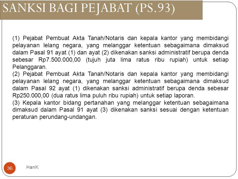 SANKSI BAGI PEJABAT (PS.93)