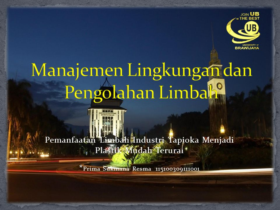 Manajemen Lingkungan dan Pengolahan Limbah
