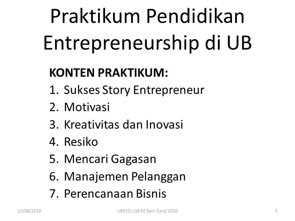Praktikum Pendidikan Entrepreneurship di UB