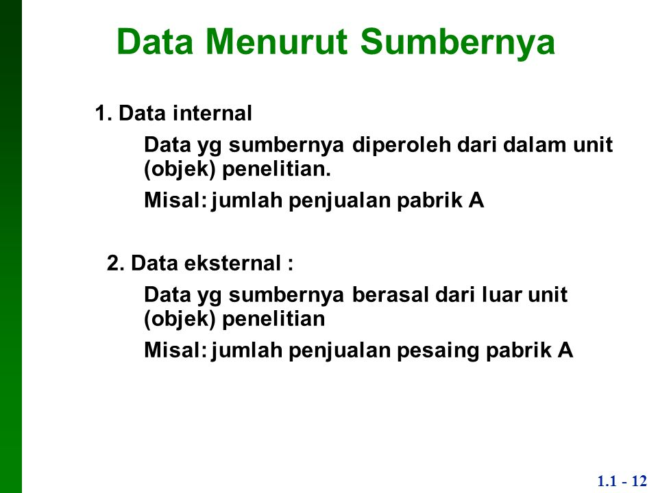 Data Menurut Sumbernya