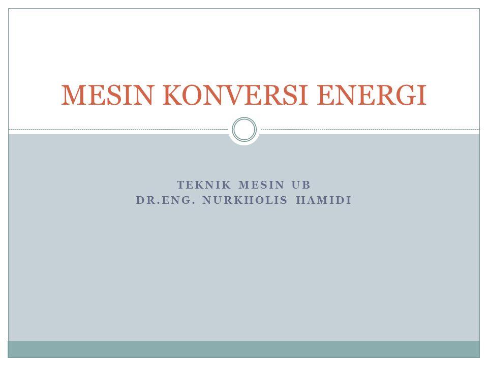 TEKNIK MESIN UB Dr.Eng. NURKhOLIS HAMIDI