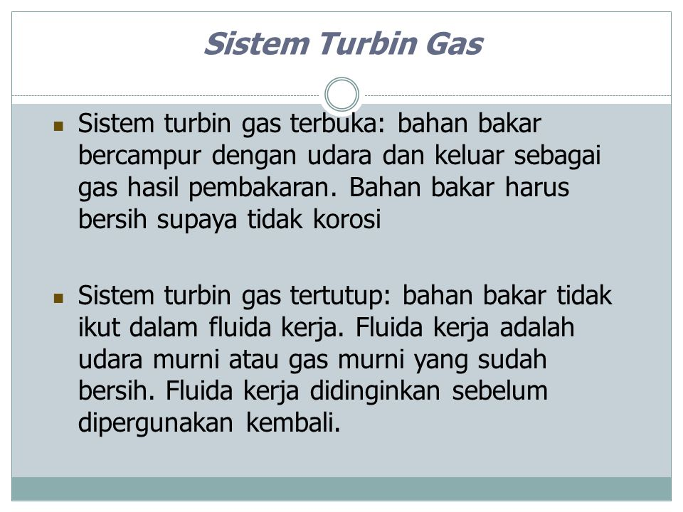 Sistem Turbin Gas