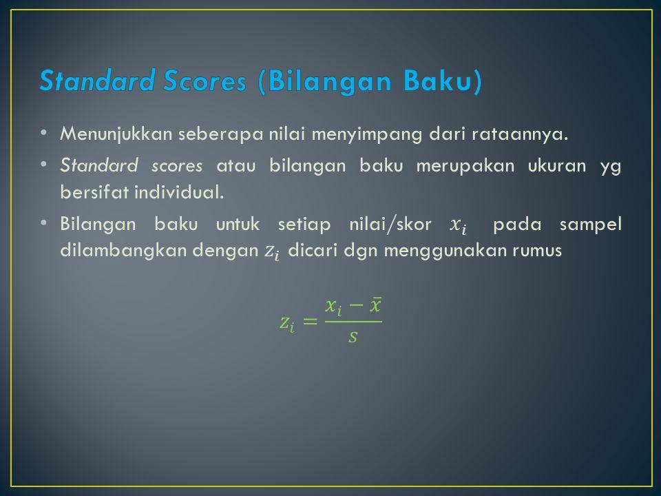 Standard Scores (Bilangan Baku)