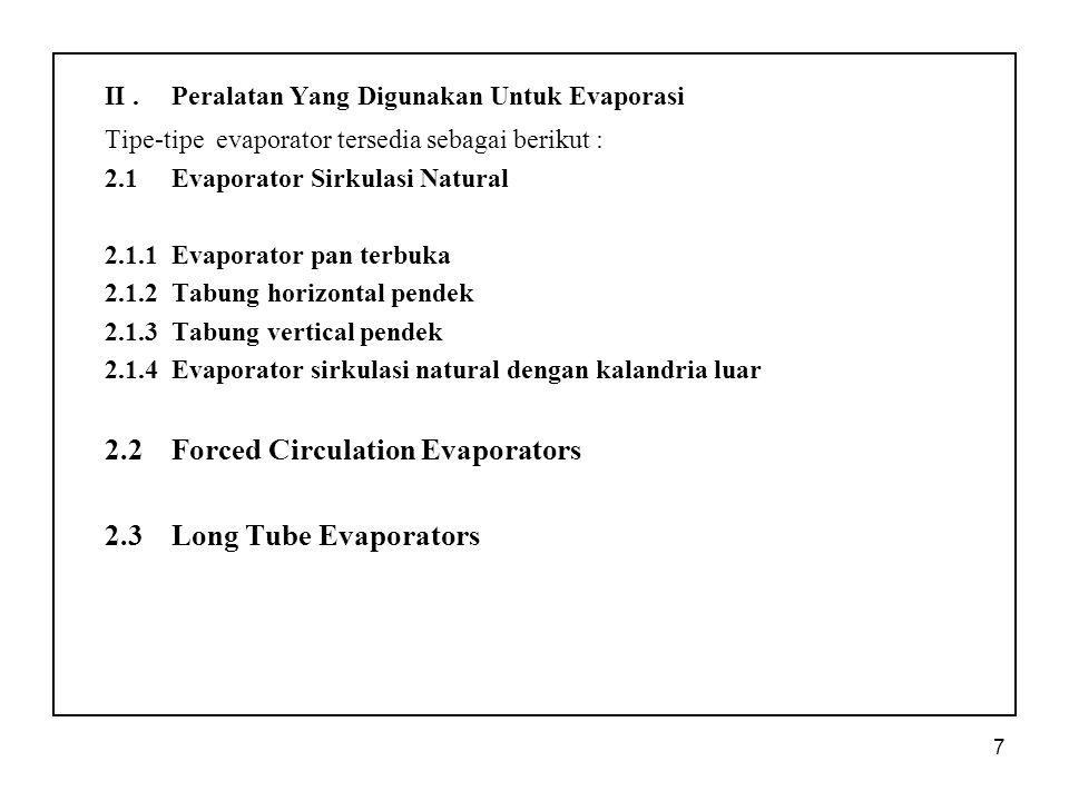II . Peralatan Yang Digunakan Untuk Evaporasi