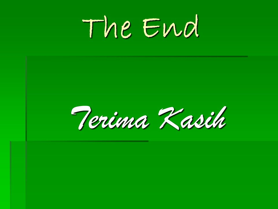The End Terima Kasih