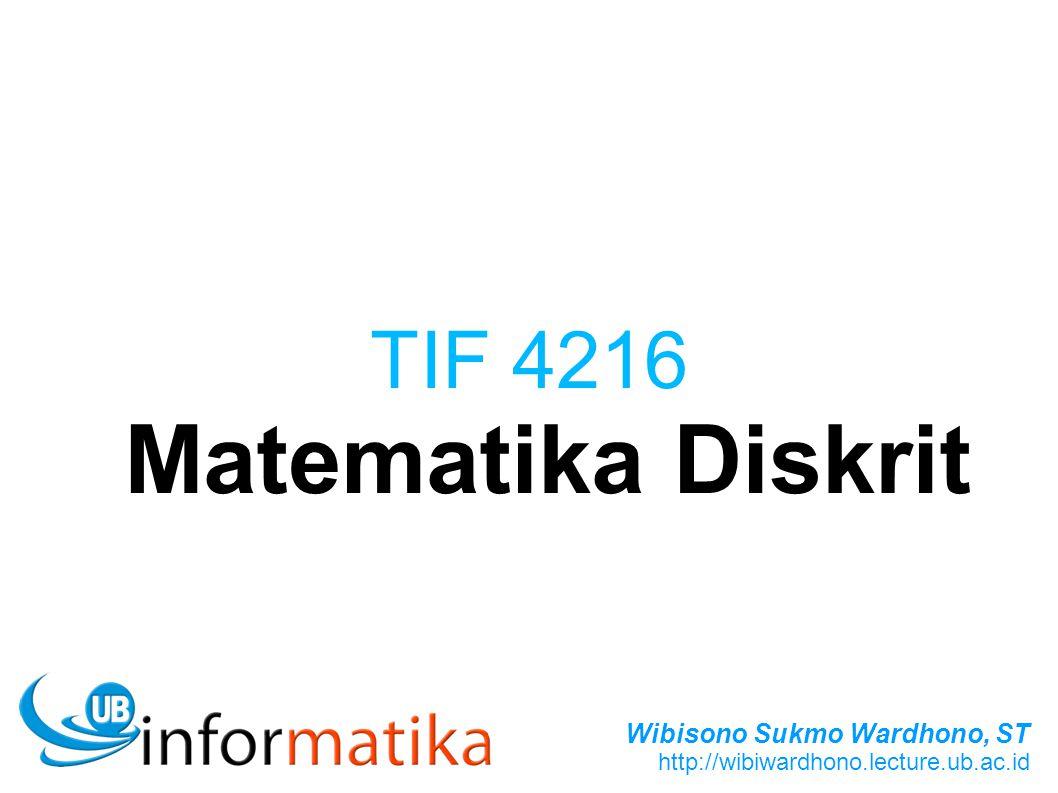 TIF 4216 Matematika Diskrit