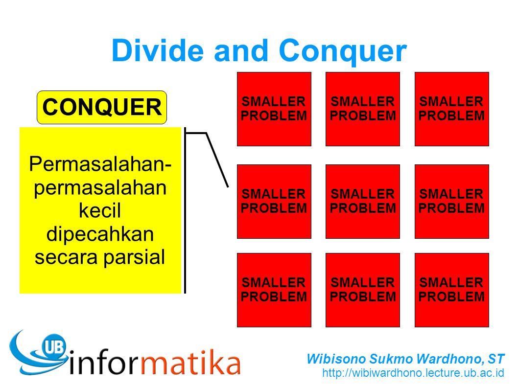 Permasalahan-permasalahan kecil dipecahkan secara parsial