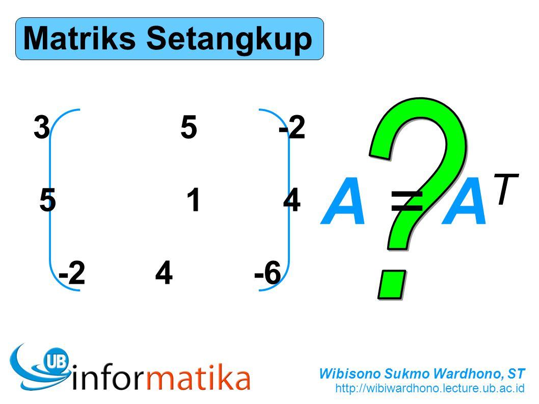 Matriks Setangkup 3 5 -2 5 1 4 -2 4 -6 A = AT