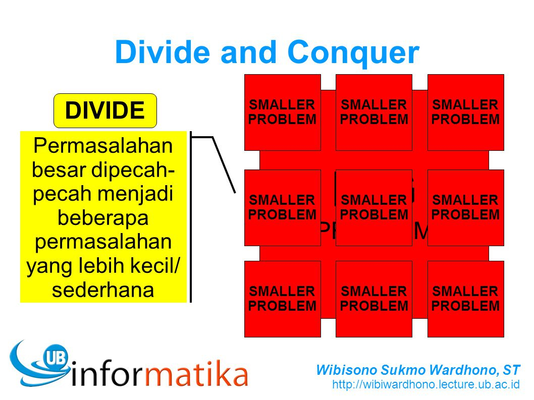 BIG Divide and Conquer DIVIDE PROBLEM
