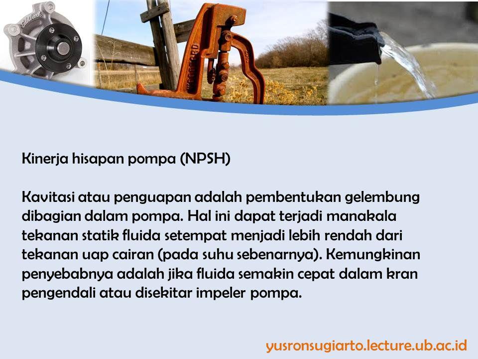 Kinerja hisapan pompa (NPSH)