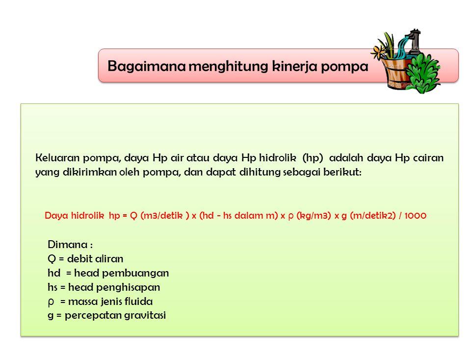 Bagaimana menghitung kinerja pompa