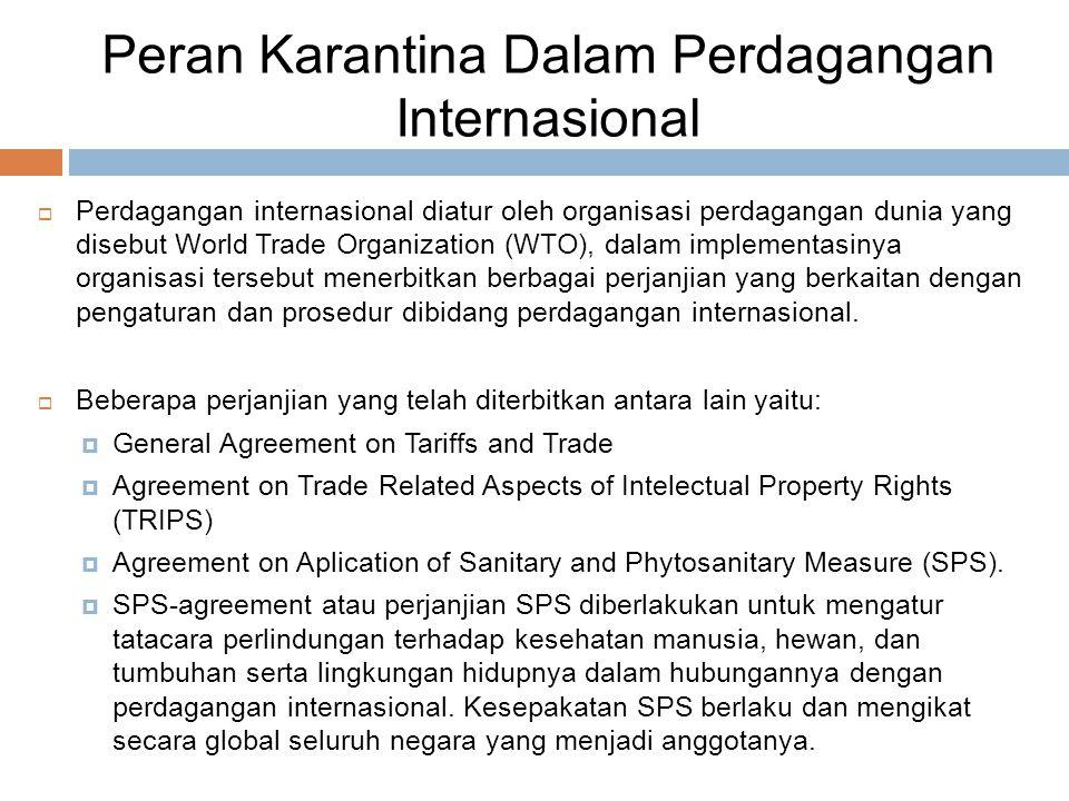 Peran Karantina Dalam Perdagangan Internasional