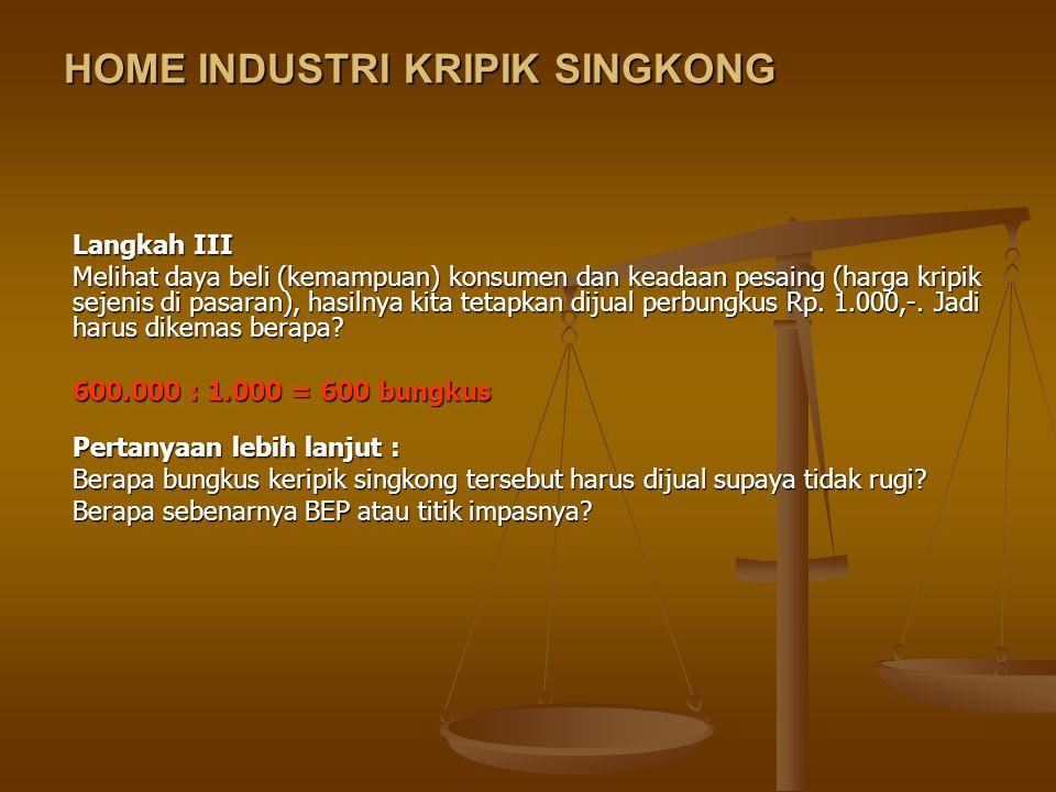HOME INDUSTRI KRIPIK SINGKONG