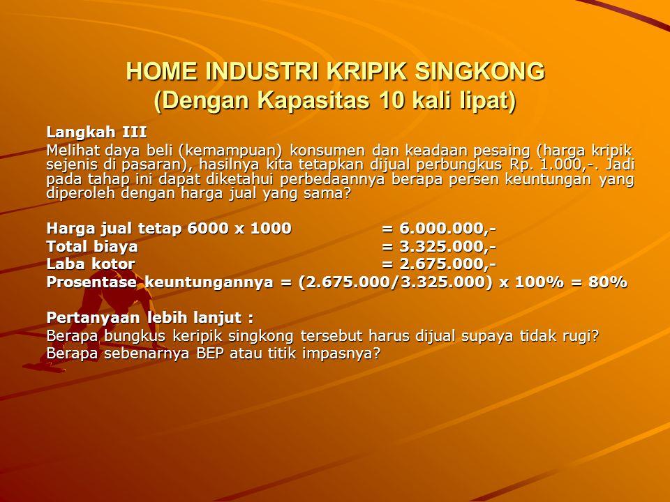HOME INDUSTRI KRIPIK SINGKONG (Dengan Kapasitas 10 kali lipat)