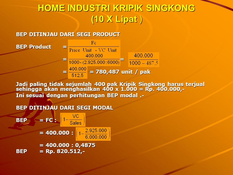 HOME INDUSTRI KRIPIK SINGKONG (10 X Lipat )