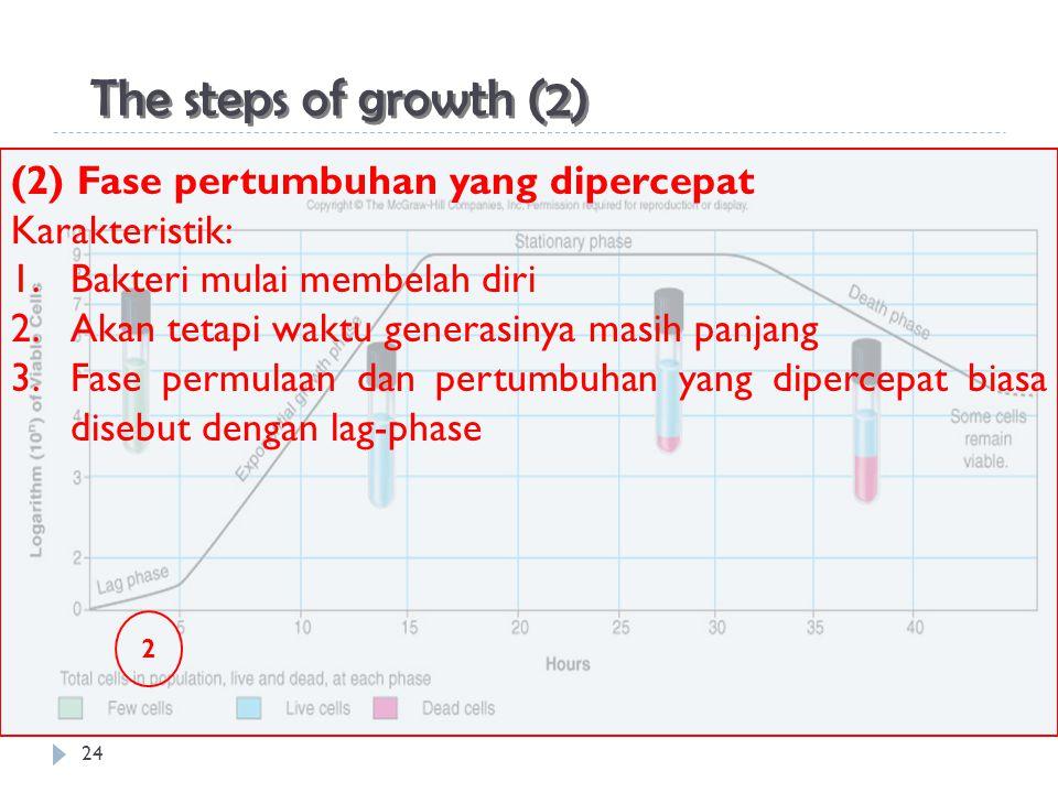 The steps of growth (2) (2) Fase pertumbuhan yang dipercepat