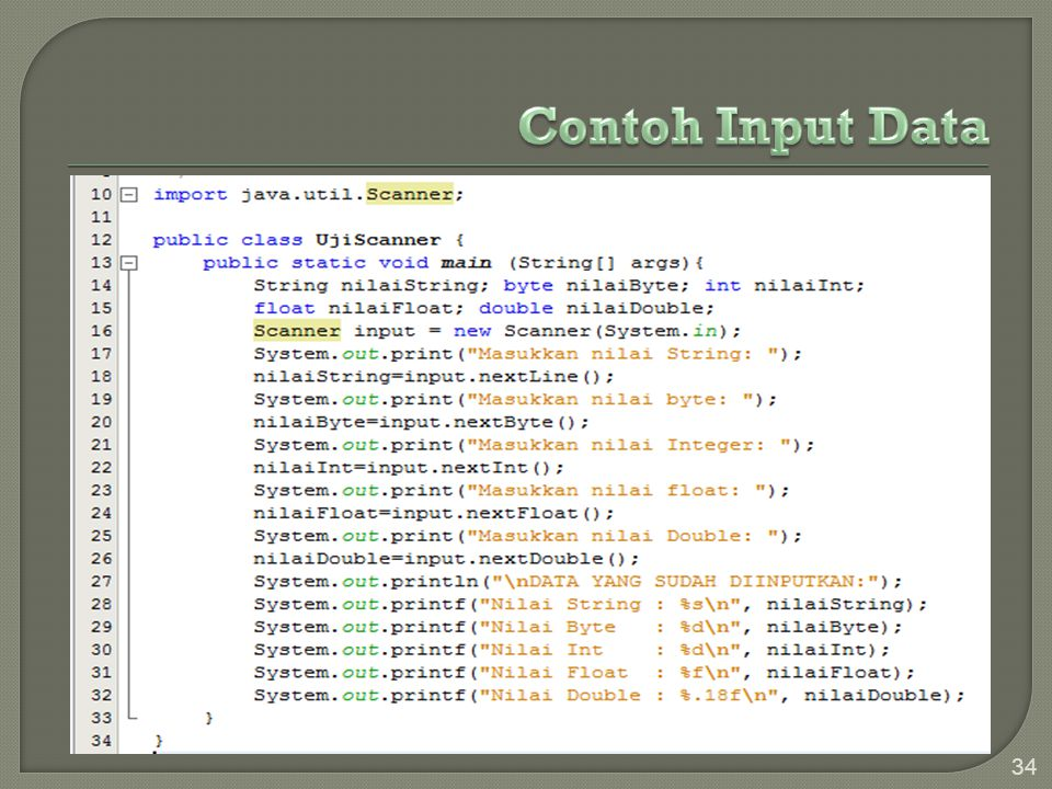 Contoh Input Data