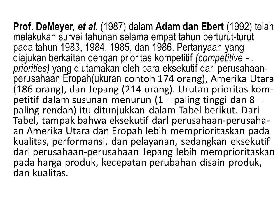 Prof. DeMeyer, et al.