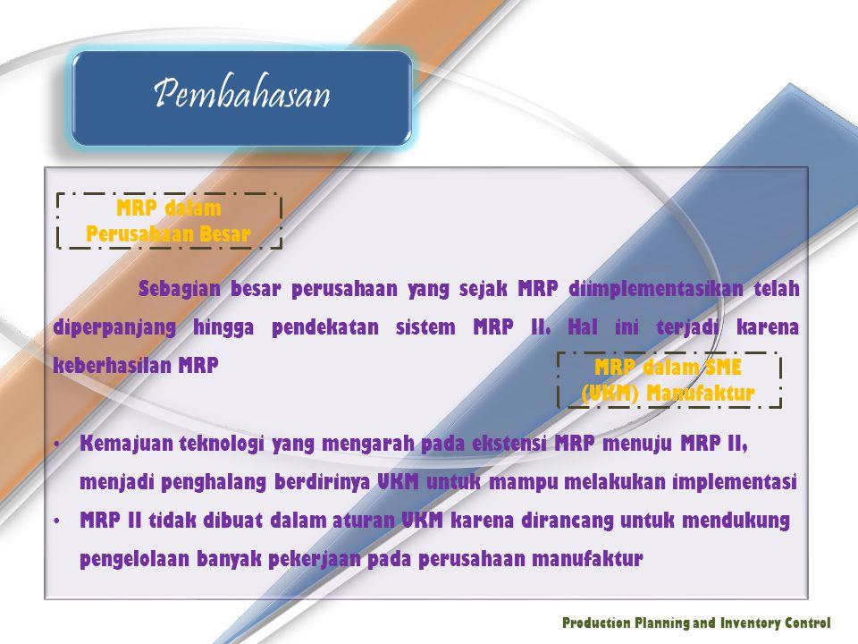 Pembahasan MRP dalam Perusahaan Besar