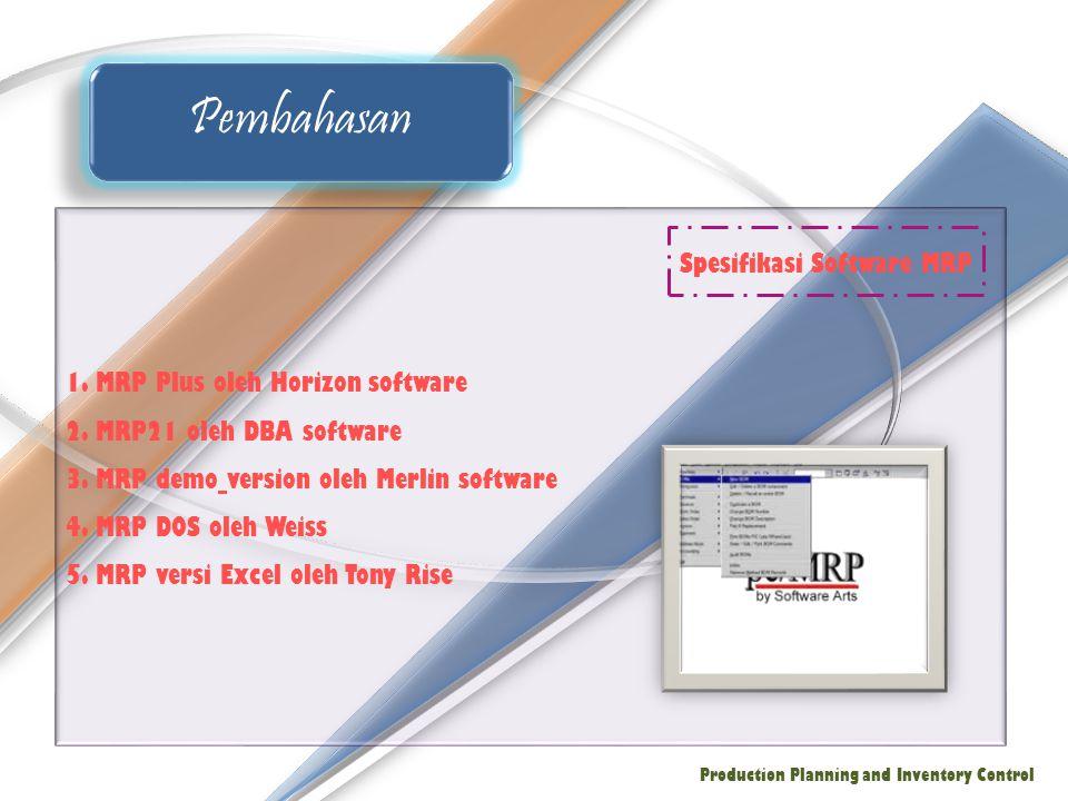 Spesifikasi Software MRP
