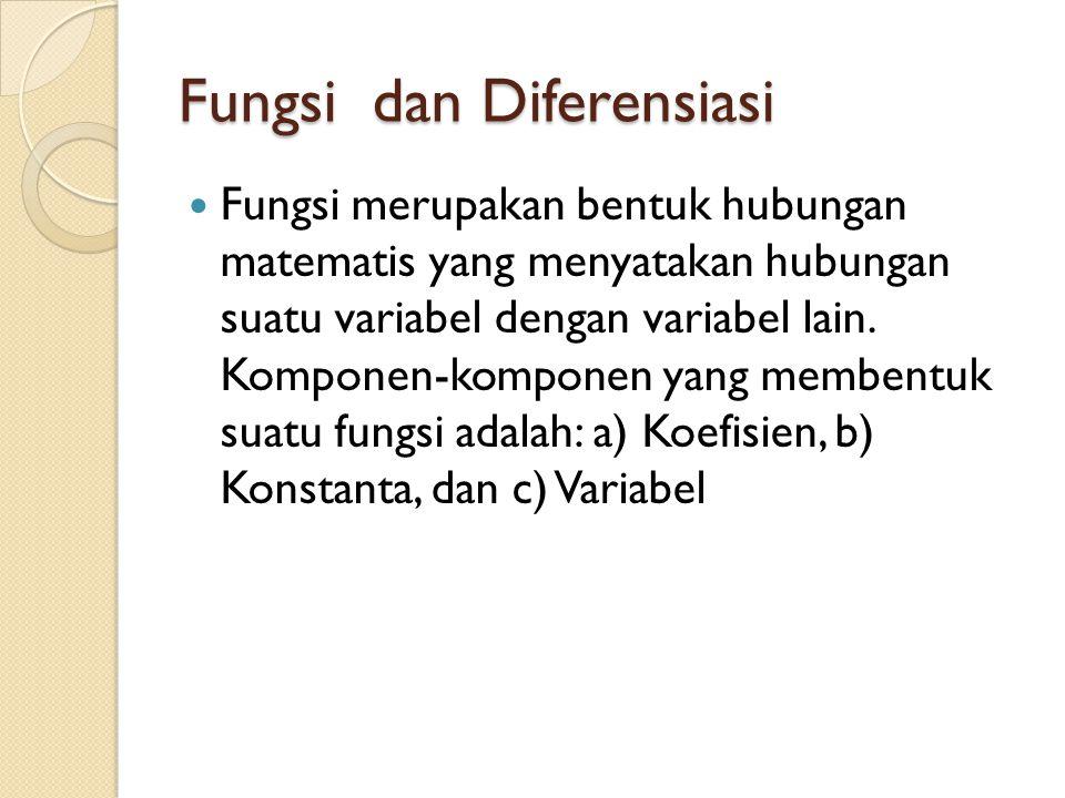 Fungsi dan Diferensiasi