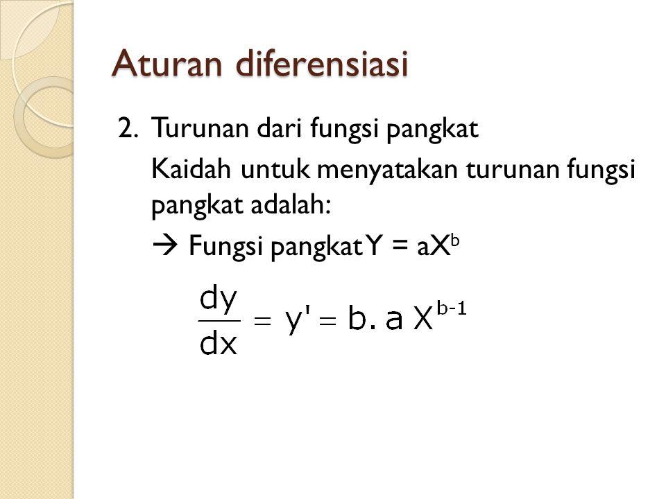 Aturan diferensiasi 2.