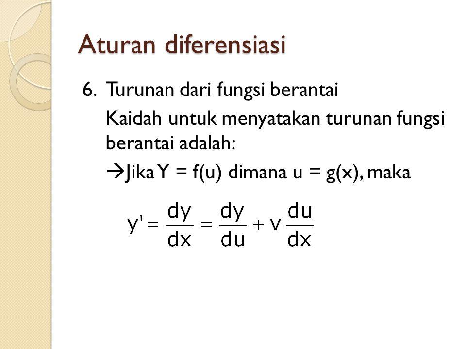 Aturan diferensiasi 6.