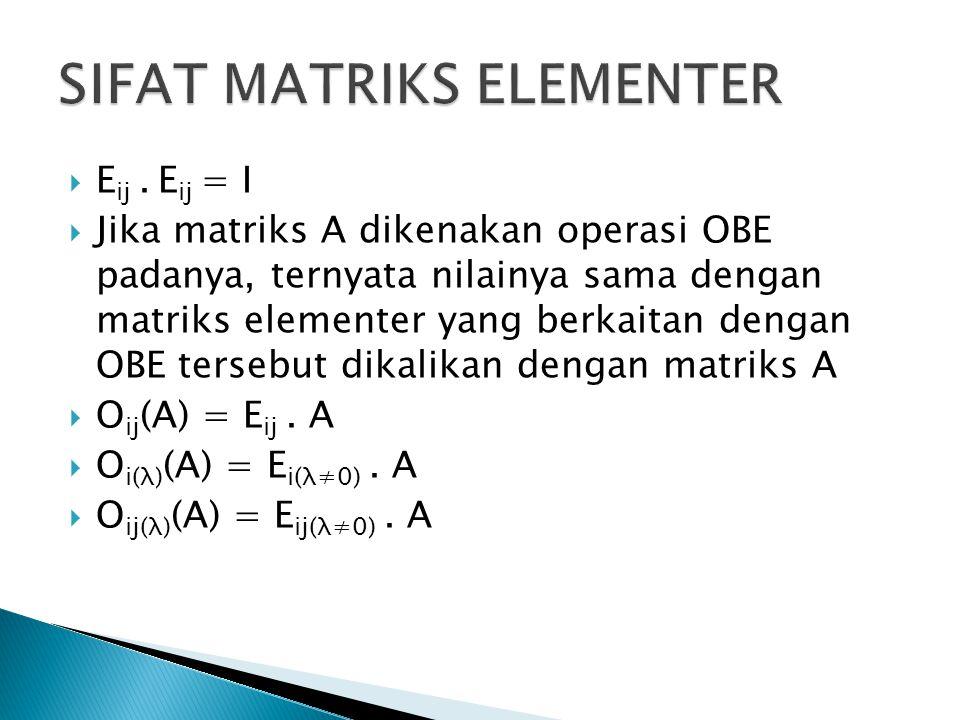 SIFAT MATRIKS ELEMENTER