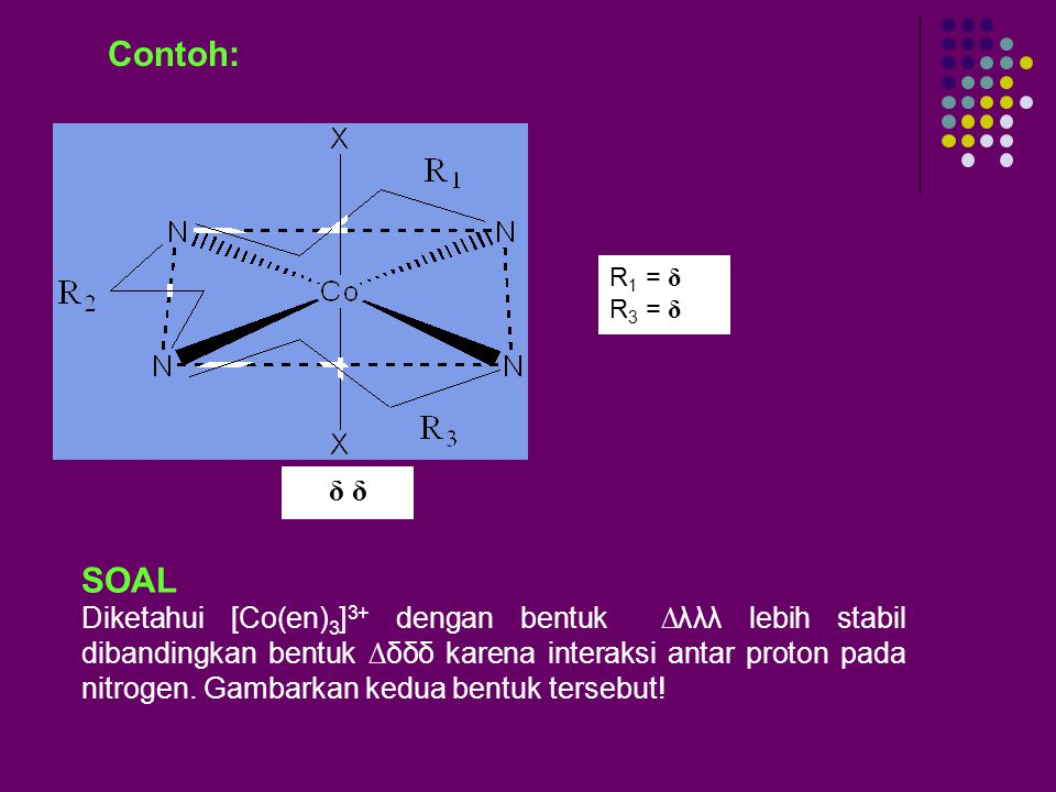 Contoh: R1 = δ. R3 = δ. δ δ. SOAL.