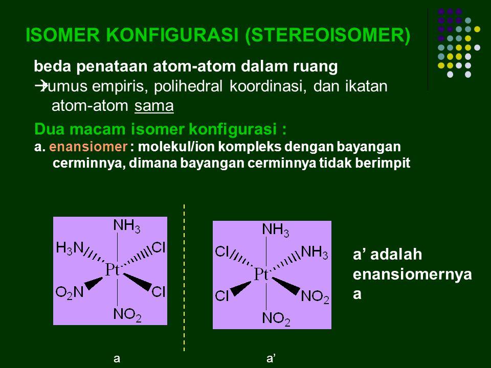 ISOMER KONFIGURASI (STEREOISOMER)
