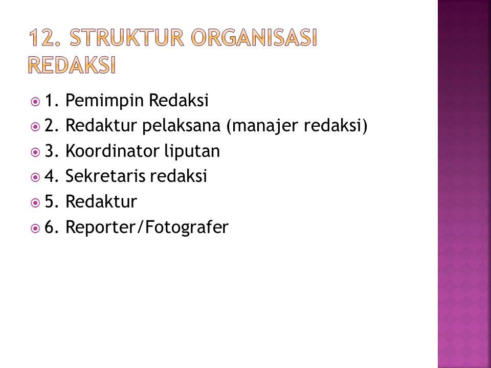 12. Struktur Organisasi redaksi