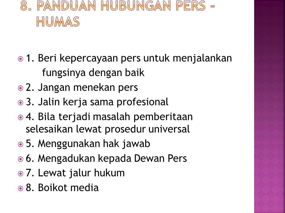 8. Panduan hubungan Pers - Humas