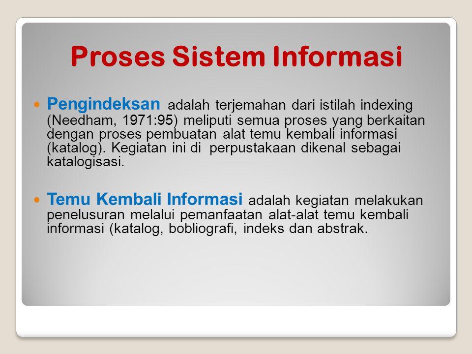 Proses Sistem Informasi